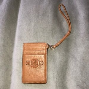 Tory Burch Leather ID Card Wallet